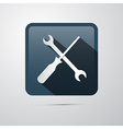 Repair Icon Screwdriver and Spanner Wrench vector image vector image