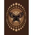 retro butterfly vector image vector image