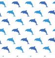 seamless repeatable pattern of shark predator vector image