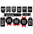set label discount vector image