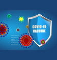 set realistic covid-19 vaccine background vector image