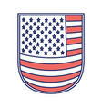 shield with flag united states of america color vector image vector image