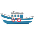 ship for travel water sea transport vector image vector image