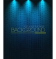 Spotlight background blue vector image vector image
