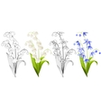 spring flowers vector image