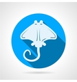 Stingray flat round icon vector image vector image