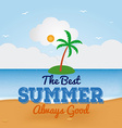 Summer vacation items vector image vector image