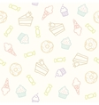 Sweet pattern Cakes cupcakes candies donuts ice vector image