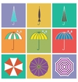 Umbrella icons in flat style vector image vector image
