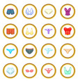 underwear icons circle vector image vector image