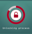 unlocking process of personal data security vector image vector image