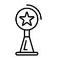 video blog star cup icon outline style vector image vector image