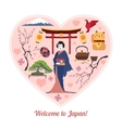 Welcome to Japan Japan travel background with vector image