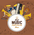 banner with sound or musical instruments vector image