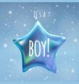 it is a boy twinkle little star on night sky vector image