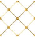 Rhombus seamless pattern white 1 vector image