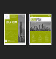modern business corporate brochure flyer design vector image