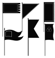 Set of silhouettes of military flags vector image