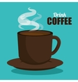 drink cup coffee hot graphic vector image