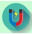 icon horseshoe magnet Symbol magnetism vector image