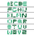 stylish alphabets letters a-z font vector image