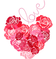 The heart of roses vector image