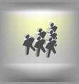 gangster person icon vector image