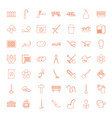 49 garden icons vector image vector image