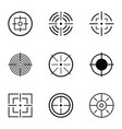 aim icons set simple style vector image