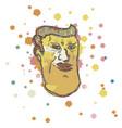 art color head vector image vector image