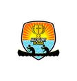 athletic christian logo vector image