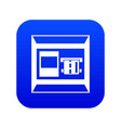 atm icon digital blue vector image vector image