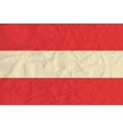Austria paper flag vector image vector image
