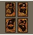 autumn cartoon cards design vector image vector image