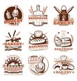 Bakery Orange Emblems Set vector image vector image