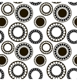 Black and white pattern of circles vector image