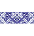 blue and white flower seamless borders vector image