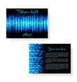 bright postcard with neon light vector image vector image