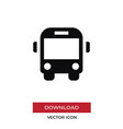 bus front icon in modern style for web site and vector image vector image