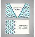 Business card template Modern retro style vector image vector image