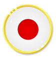 button with flag Japan vector image vector image