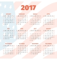 Calendar 2017 with USA flag background vector image vector image
