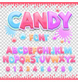 candy latin font design sweet abc letters and vector image