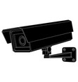 cctv security camera black outline drawing vector image vector image