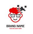 children technology logo vector image