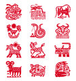 Chinese horoscope signs vector image
