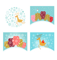 Christmas design elements set New year greetings