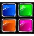 Chrome webdesign elements vector image vector image