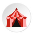 circus tent icon circle vector image vector image