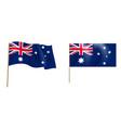 colorful naturalistic waving flag australia vector image